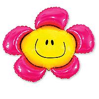 Фольга велика ромашка рожева 901548