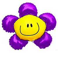 Фольга большая ромашка фиолетовая 9015458