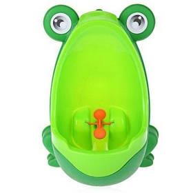 Детский писсуар в виде лягушки с прицелом - зеленый