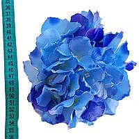 Головка гортензии премиум синяя