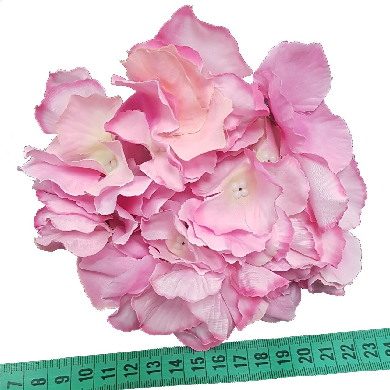 Головка гортензии премиум розовая