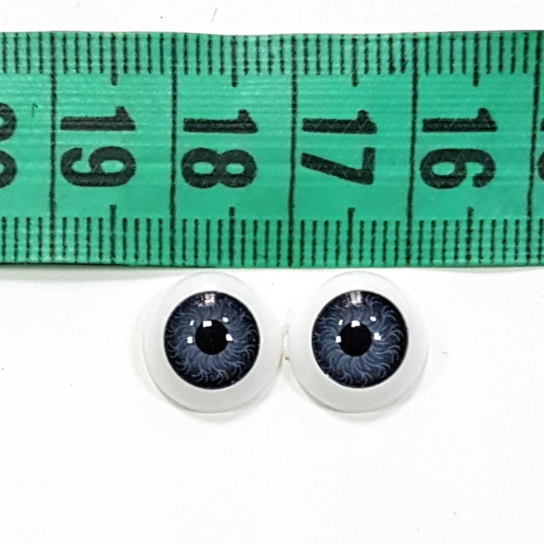 Глазки для кукол 12 мм - 2 шт серые