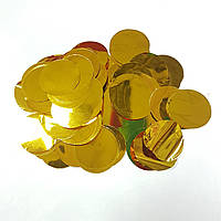 Конфетти кружочки 35мм золото 250г