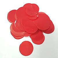 Конфетті кружечки 35мм червоні 250г