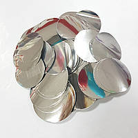 Конфетті кружечки 35мм срібло 500г