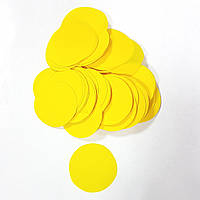 Конфетти кружочки 35мм желтые 500г