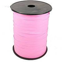 Лента бумажная для шаров розовая 0,5 см 500м