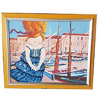 Картина без скла: Я тримаю вітер у своїх долонях, вишита бісером