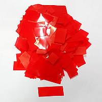 Конфетти прямоугольник красный 250г