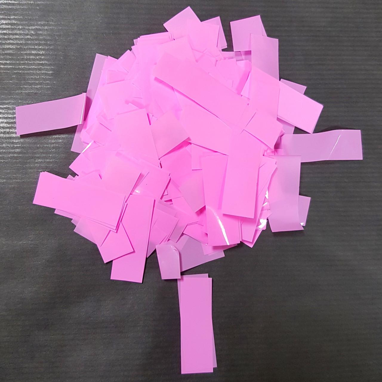 Конфетти прямоугольник розовый 250г
