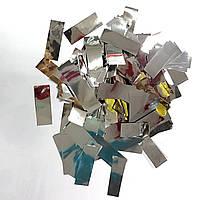 Конфетти прямоугольник серебро 250г