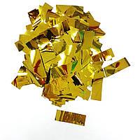 Конфетти прямоугольник золото 250г
