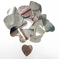 Конфетті серця срібло 1кг