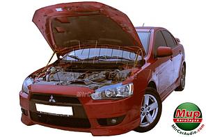 Газовый упор капота Mitsubishi Lancer X (2007-2017) (2 шт)