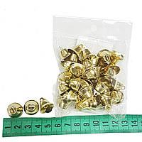 Новогодний декор колокольчики 50шт золото
