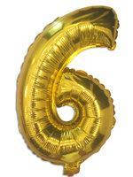 Фольга цифра №6 - 35см золото