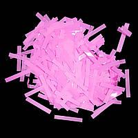 Конфетти прямоугольник тонкий розовый 1кг