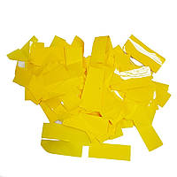 Конфетти прямоугольник желтый 1кг