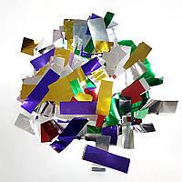 Конфетти прямоугольник микс металл 1кг