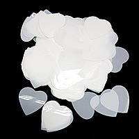 Конфетті серця 25мм білі (500 грам)