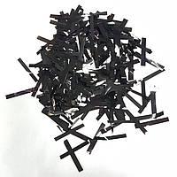 Конфетти прямоугольник тонкий черный 250г