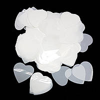 Конфетті серця білі 25г