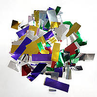 Конфетти прямоугольник микс металл 25г