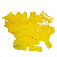 Конфетти прямоугольник желтый 25г