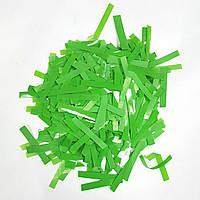 Конфетти прямоугольник тонкий зеленый 25г