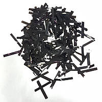 Конфетти прямоугольник тонкий черный 25г