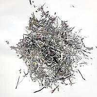 Конфетти мишура серебро 25г