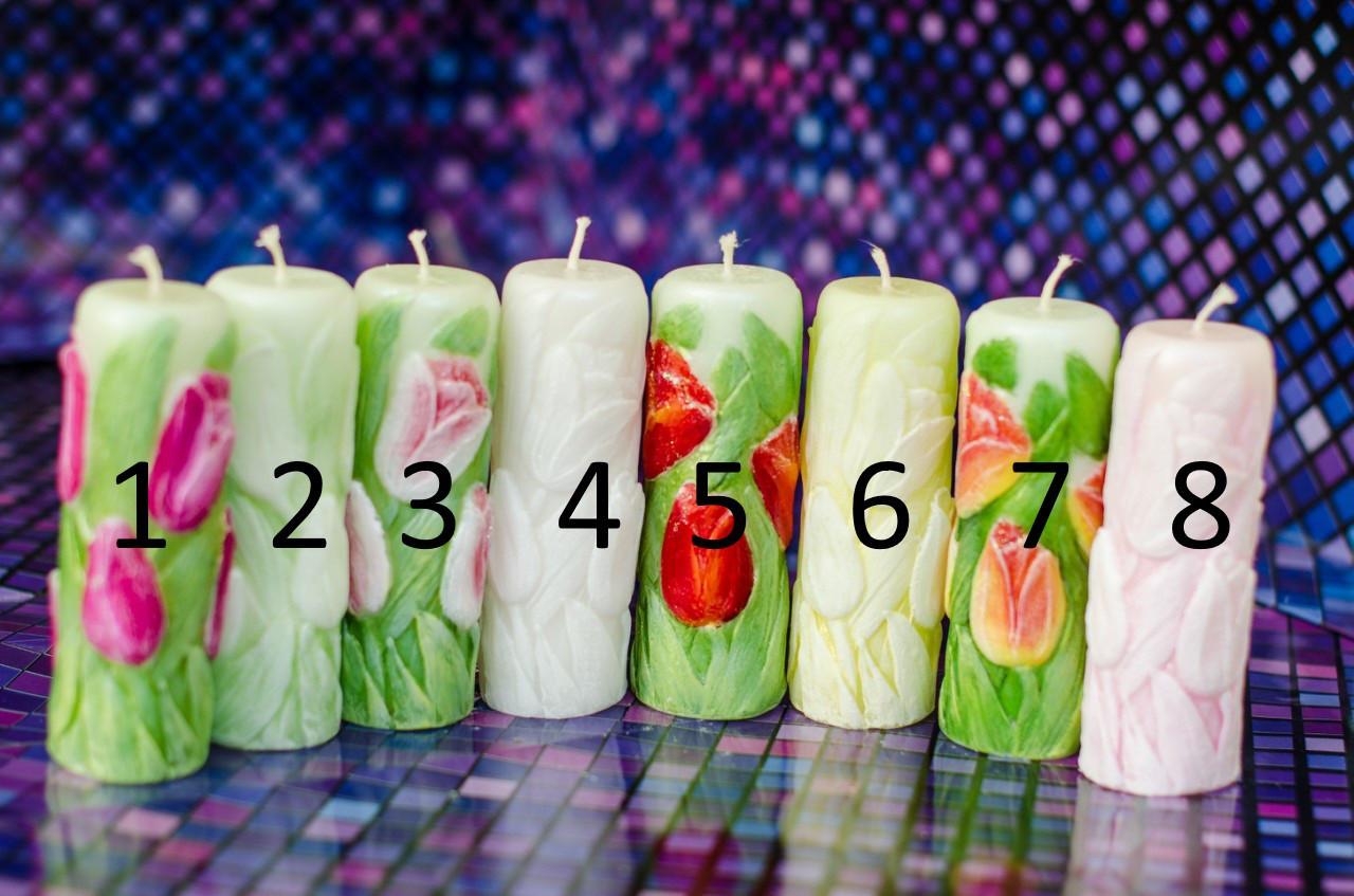 Свеча сувенирная тюльпан