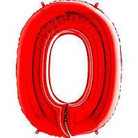 Фольга цифра 0 красная