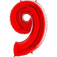 Фольга цифра 9 красная