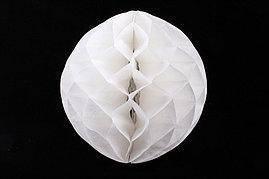 Бумажный шар соты 25см белый