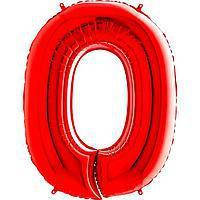 Гелиевая цифра 100 см красная №0
