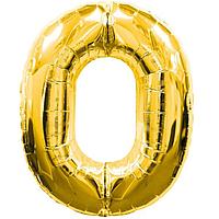 Гелієва цифра 100 см золото №0