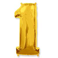 Гелієва цифра 100 см золото №1