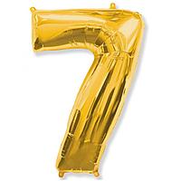 Гелієва цифра 100 см золото №7