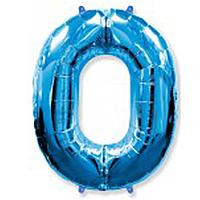 Гелієва цифра 100 см синя №0