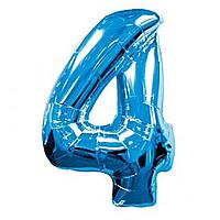 Гелієва цифра 100 см синя №4