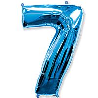 Гелієва цифра 100 см синя №7