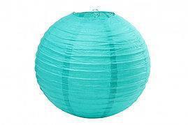 Бумажный шар 20см аквамарин