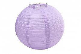 Бумажный шар 20см сиреневый