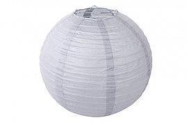 Бумажный шар 20см серый