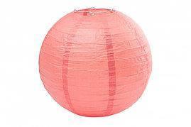 Бумажный шар 30см коралловый