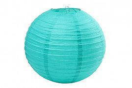 Бумажный шар 35см аквамарин