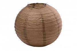 Бумажный шар 40см коричневый