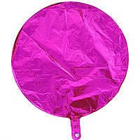 Гелієва куля фольга малиновий 45см