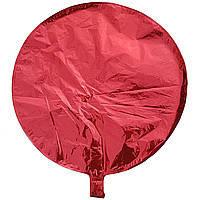 Гелієва куля фольга червоний 45см